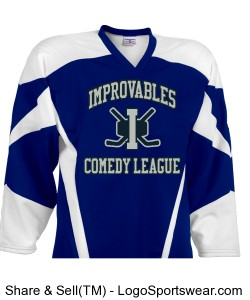 Improvables Comedy League - Blue Design Zoom